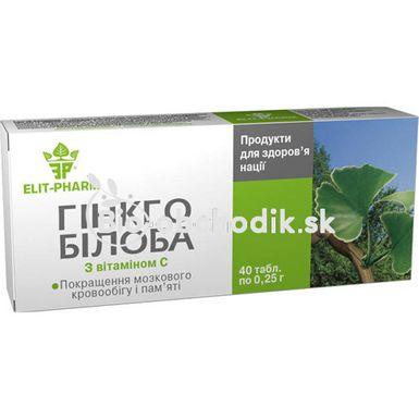 GINKGO BILOBA with vitamin C 40tbl.