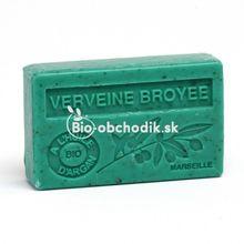 Soap BIO argan oil - Crumbled vervain (Verbena) 100g