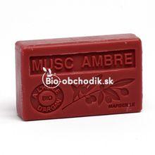 Soap BIO argan oil - Amber geranium 100g