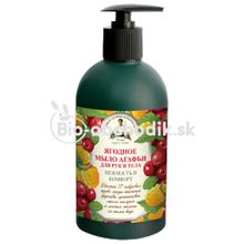 AGAFIA Liquid hand and body soap with tiny fruit pieces 500ml